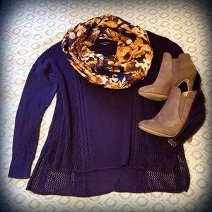AE Plum Knit Sweater M